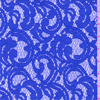 Periwinkle Blue Scroll Lace
