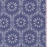 Dusty Blue Floral Medallion Lace