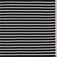 Onyx/White Stripe Interlock Knit