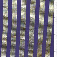 *2 YD PC--Purple Stripe Hologram Dot Activewear