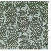 *1 1/4 YD PC--Spa Blue/Grey Owl Silk Crepe de Chine