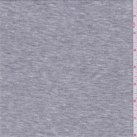 *2 5/8 YD PC--Heather Grey Micro French Terry Knit