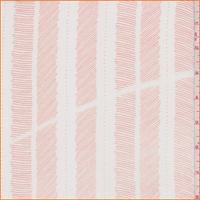 White/Sea Coral Sketch Stripe Chiffon