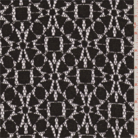 Black/Bronze Geometric Medallion Lace