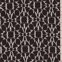 Black/Bronze Geometric Medallion Lace