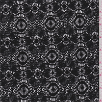 Black Circular Medallion Lace
