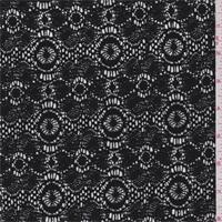 Black Circular Medallion Lace