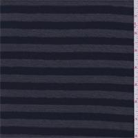 Pewter/Navy Stripe Sweater Knit