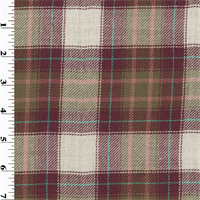 *1 1/4 YD PC--Plaid Wool Twill Shirting