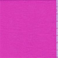 Bright Bubblegum Pink Linen