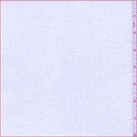*3 YD PC--White 1 x 1 Cotton Rib Knit