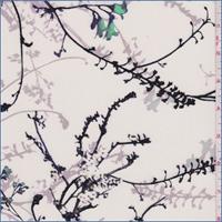 *1 1/4 YD PC--Pearl White Floral Silk Crepe de Chine
