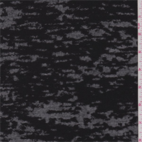 *3 1/2 YD PC--Black Burnout French Terry Knit