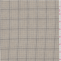 *3 3/8 YD PC--Tan/Taupe Plaid Rayon