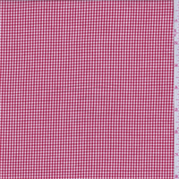 Red Gingham Check Cotton Shirting