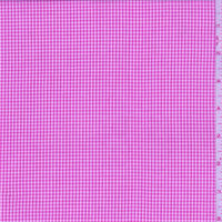 Hot Pink Gingham Check Cotton Shirting