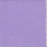 Lilac Gingham Check Cotton Shirting