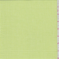 Bright Lime Gingham Check Cotton Shirting