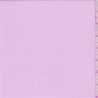 Baby Pink Gingham Check Cotton Shirting