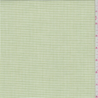 Lime Gingham Check Cotton Shirting