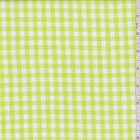 Bright Lime Gingham Check Cotton Shirting