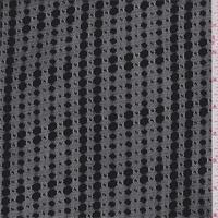 Black Dotted Stripe Mesh Knit