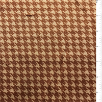 Ivory/Tobacco Houndstooth Nylon Knit