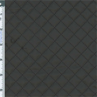 ** 1 yd pc -- Slate Black Quilted Vinyl Decorating Fabric