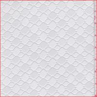 White Hexagon Stretch Lace