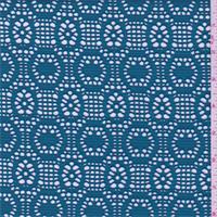 Teal Blue Circular Stretch Lace