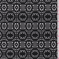 Black Circular Stretch Lace
