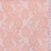 Apricot Floral Stretch Lace