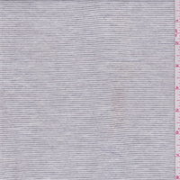 Heather Smoke Grey/White Stripe Jersey Knit