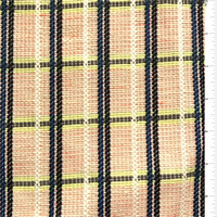 Ecru/Neon Plaid Tweed Suiting
