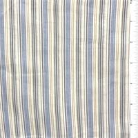 Yellow/Powder Blue Stripe Cotton Lawn