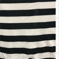 Black/White Stripe Rayon Sweater Knit