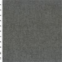 **2 1/4 yd pc -- Dark Gray Chenille Upholstery Fabric