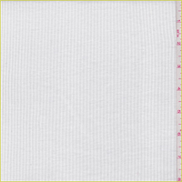 *3 YD PC--Off White 1 x 1 Cotton Rib Knit