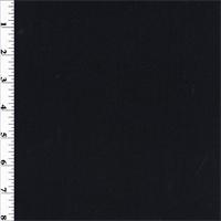 *1 YD PC--Black Wool Crepe Suiting