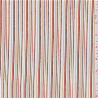 *3 YD PC--Tan/Pink Stripe Shirting