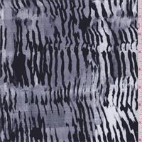 White/Black/Grey Stripe Activewear
