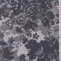 Dusty Mauve/Navy Mottled Floral Chiffon