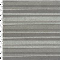 *11 YD PC--De Leo Brown Gray Pente Stripe Upholstery Fabric