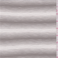 Cream/Cocoa Taupe Stripe Rayon Jersey Knit