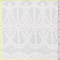 White Scroll Mesh Lace