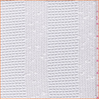 White Grid Stripe Polyester Lace