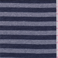 Navy/Grey Stripe T-Shirt Knit