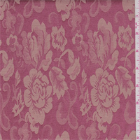 Rose Pink/Tea Brown Floral Damask