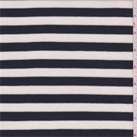 Ivory/Dark Navy Stripe Thermal Knit