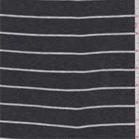 Dark Charcoal/White Stripe Thermal Knit